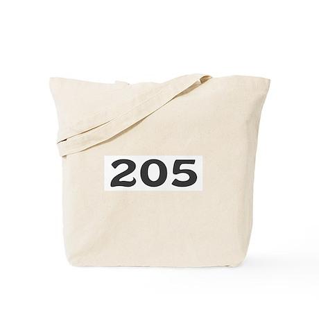 205 Area Code Tote Bag