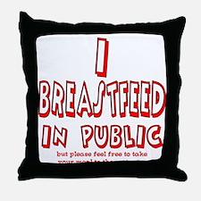 Breastfeeding in Public Advoc Throw Pillow
