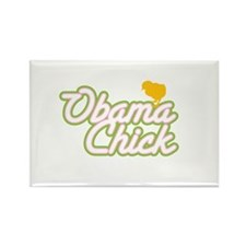 Obama Chick (yellow chick) Rectangle Magnet