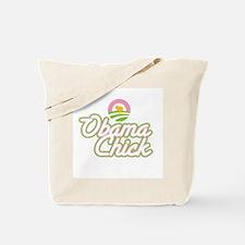 Obama Chick (chick in logo) Tote Bag