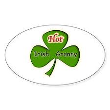 Hot Irish Granny Oval Decal