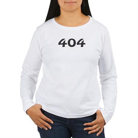 404 Area Code Women's Long Sleeve T-Shirt