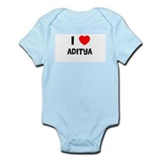 I LOVE ADITYA Infant Creeper