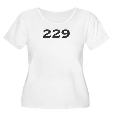 229 Area Code Women's Plus Size Scoop Neck T-Shirt