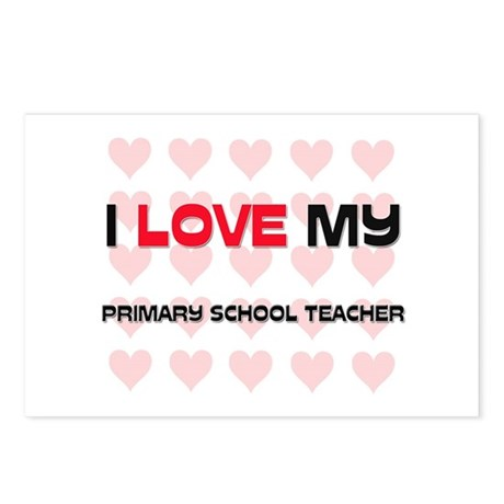 I Love My Primary School Teacher Postcards (Packag