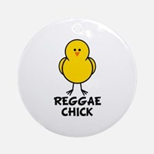 Reggae Chick Ornament (Round)