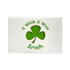 I Wish I Was Irish Rectangle Magnet