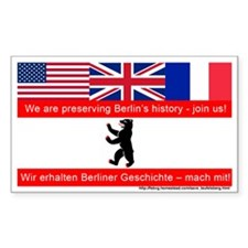Save Teufelsberg! Rectangle Sticker 10 pk)