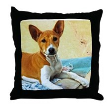 Basenji Pup Throw Pillow