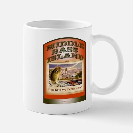 Middle Bass Lake Erie Fishing Mug