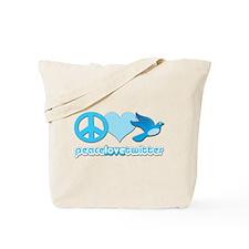 Peace Love & Twitter - Tote Bag