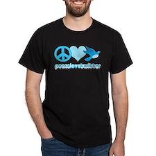Peace Love & Twitter - T-Shirt