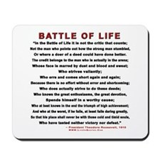 """""""Man In The Arena"""" Mousepad"""