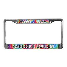 Peace Love Carlisle Cullen License Plate Frame