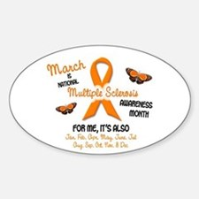MS Awareness Month 2.1 Oval Decal
