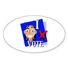 I Vote Oval Decal