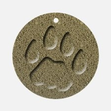 Bobcat Cat Track Keepsake Ornament