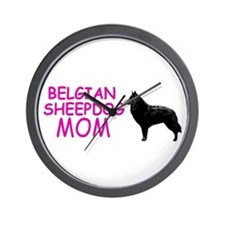 belgian sheepdog mom Wall Clock