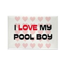 I Love My Pool Boy Rectangle Magnet
