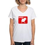 POLISH Women's V-Neck T-Shirt