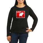 POLISH Women's Long Sleeve Dark T-Shirt