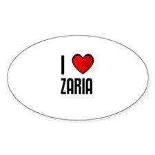 I LOVE ZARIA Oval Decal