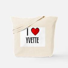 I LOVE YVETTE Tote Bag