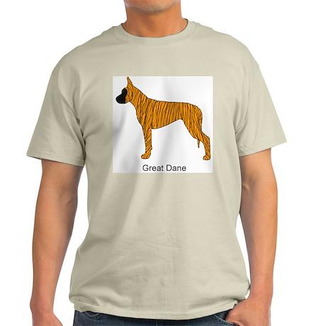 Brindle Great Dane Ash Grey T-Shirt