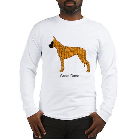 Brindle Great Dane Long Sleeve T-Shirt