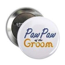 """PawPaw of the Groom 2.25"""" Button"""