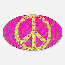 Pastel Splatter Peace Oval Decal