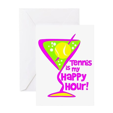 Tennis Happy Hour Greeting Card