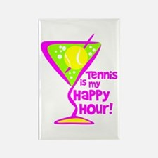 Tennis Happy Hour Rectangle Magnet