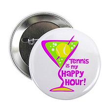 "Tennis Happy Hour 2.25"" Button"