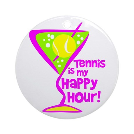 Tennis Happy Hour Ornament (Round)