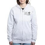 Eleanor Roosevelt 7 Women's Zip Hoodie