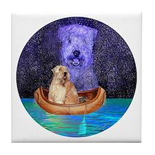 MIDNIGHT CANOE Tile Coaster