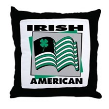 Irish American Flag Throw Pillow