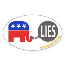 REPUBLICAN IN CHAINS Oval Decal