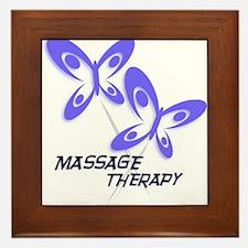 Massage Therapist Framed Tile