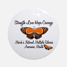 MS Awareness Month 3.2 Ornament (Round)
