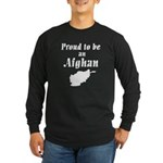 Proud to be an Afghan Long Sleeve Dark T-Shirt