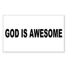 God Is Awesome Rectangle Decal