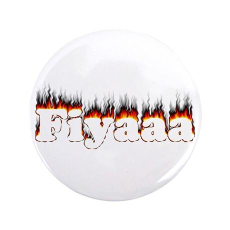 """Black-Red Fiyaaa 3.5"""" Button"""