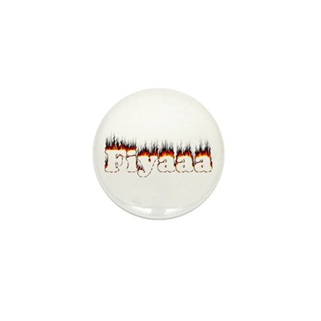Black-Red Fiyaaa Mini Button (10 pack)