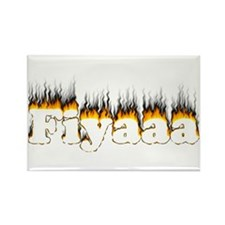 Black-Orange Fiyaaa Rectangle Magnet