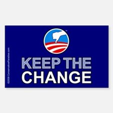 Keep the Change anti Obama Rectangle Decal