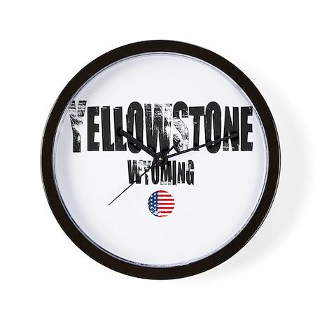 Yellowstone Grunge Wall Clock