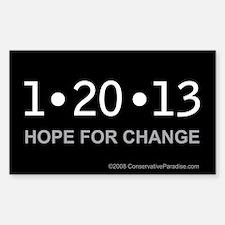 1-20-13 Hope for Change anti Obama bumper sticker