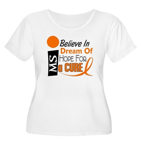 BELIEVE DREAM HOPE MS Women's Plus Size Scoop Neck